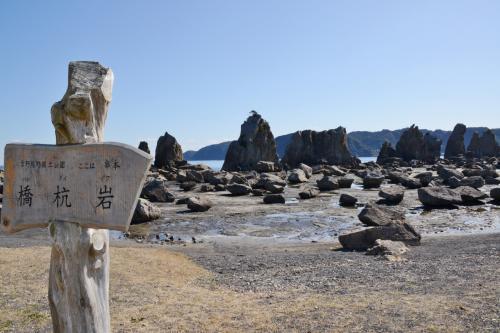 橋杭岩。 <br /><br />訪れた時は干潮で、遠くまで歩くことが出来ました。<br />
