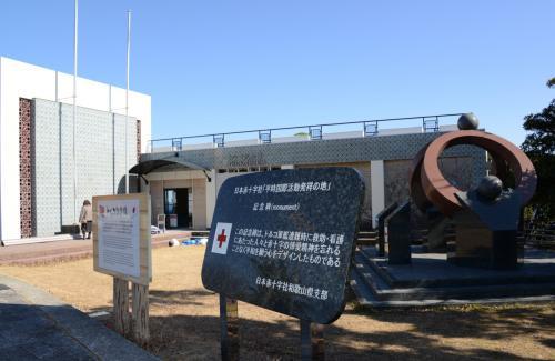 トルコ記念館。 <br /><br />リニューアル工事中で入れず、残念!  <br />(館内には遭難したエルトゥールル号の模型や遺品、写真などが展示されており、遭難事故当時の様子を知ることができる) <br /><br /> 紀伊大島・樫野崎にて。<br />