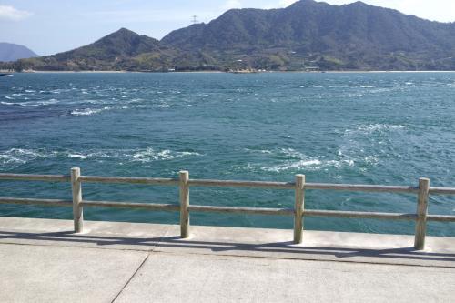 瀬戸内特有の潮の流れが、この島にもあるんですね。<br />やたらと流れが速いです。