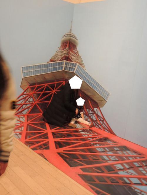 東京タワーに上っている写真が撮れる。