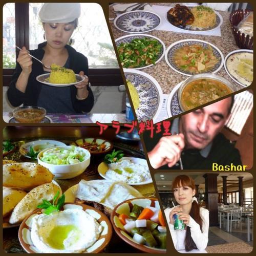 昼食(^^)<br />レストランでヨルダン料理<br />ガイドさんおすすめのミント入りのレさんおすすめのすっごいおいしい!日本人好みでおすすめ<br />前菜は食べ放題だけど…どれもしょっぱすぎるかな
