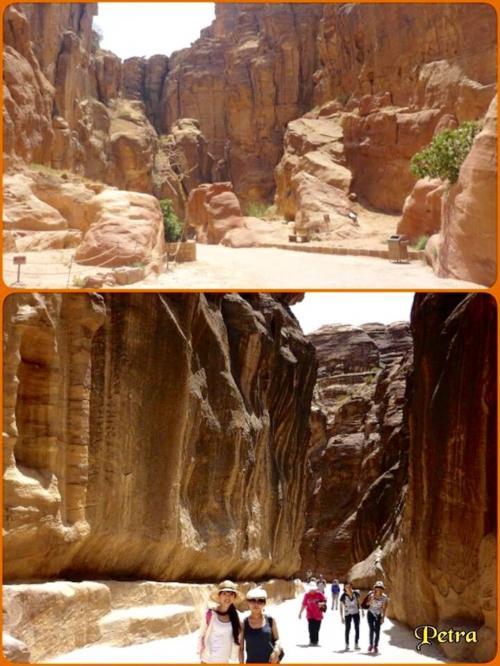 入口いきなり断崖の通り道が現れます