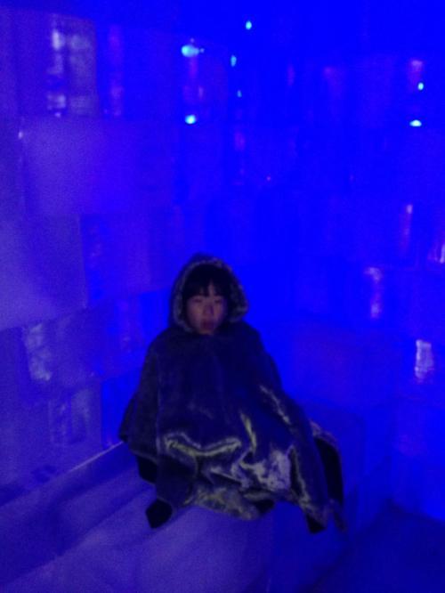氷の椅子。<br /><br />お尻からしっかりと冷えてきます(^^;;<br /><br />