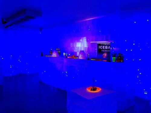 同じく店内。<br /><br />アレンデール王国の氷の城にあるバーのイメージ?!<br /><br />それを意識してなのか、掛かっている音楽は「アナと雪の女王」だったりします(^^;;<br /><br />親父の店長には関係のない世界です(汗)<br />