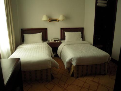 予約した時の料金は超高かった上に、ホテルの入り口はドアマンが居たりしたので「お〜、これは期待できるんぢゃない?」と思って部屋に入ったら「う〜ん、値段相応ではないなぁ〜」という感じだった。別に部屋が汚いとかそんなことは無く、綺麗なんですが、設備はちょっと古めかな。香港は全体的にホテルは高め。 <br />
