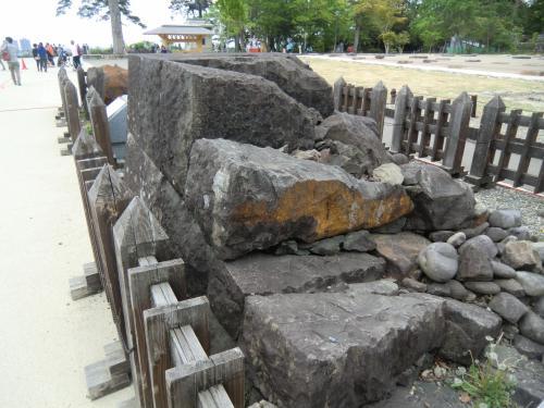 仙台城の石垣の仕組み。