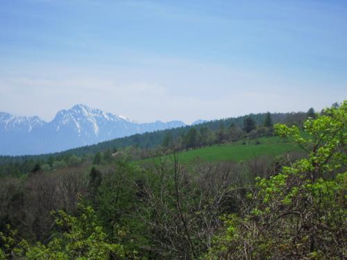 めざす八ヶ岳牧場が見えてきました。<br />
