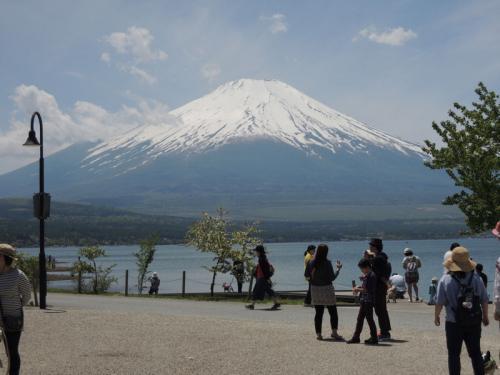 きれいな富士山と山中湖。