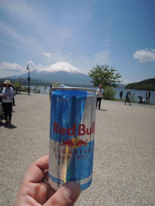 シュガーフリータイプのものをいただいた。富士山とレッドブル。<br /><br />ちなみに、今、私はこれのロング缶タイプのものを愛飲している。しかし、聞くところによると、ノンシュガーをうたっている製品は、身体には良くないらしい。自然の成分ではないので、身体の中で分解できないからだという。