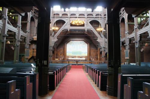 キルナ教会(Kiruna Kyrka)の礼拝室