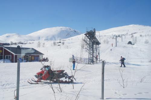 キャッタヨーク駅(Katterjåkk station)のスキー場