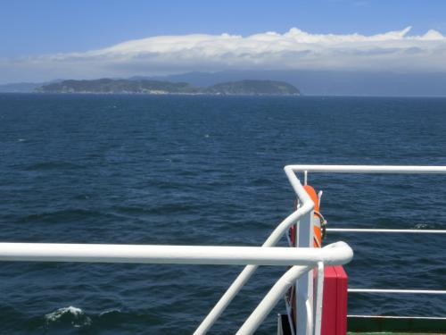 淡路島側、島が見えてきた
