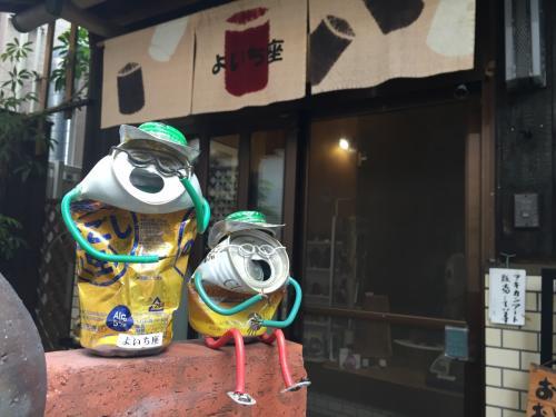 あき缶アート<br />お店のおばさまも優しくて素敵な方でした。