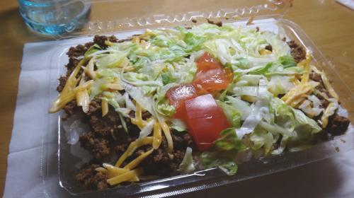 そしてさっきの赤とんぼのタコライス。これももちろんうまうま(^ ^)<br />昼ごはん食べてなかったから、いっぱい食べちゃった(^ ^)