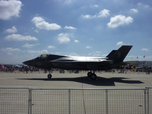 F-35の地上展示もありました。