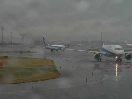 【羽田空港】<br /><br />同じ時間に出発する飛行機が並んでいます