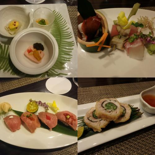 """""""菜摘""""というコースに、石垣牛の握り寿司をプラス。"""