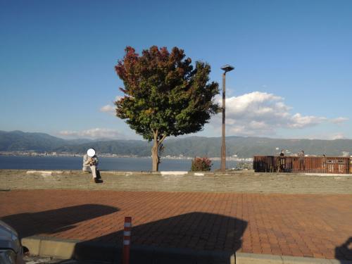 記録がないのだが、ここは諏訪湖サービスエリアだろうか。