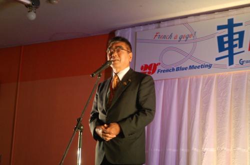 茅野市長が開会のあいさつをしてくださった。