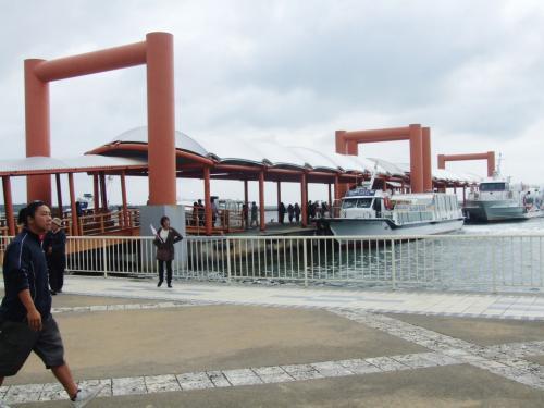 9時20分西表島の大原港につきました、これから車で約30分由布島までの水牛車乗り場に向かいます。
