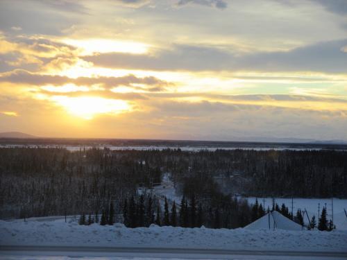 アラスカ大学のキャンパスから見た景色です。