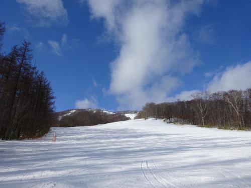 お天気も良いし☆<br />積雪は少ないとのことでしたが、<br />結構寒くて、<br />たまに雪もチラついていました。<br />ここは暖かくて雪量が少ないわけではなく、<br />降水量がないんだろうなと思いました。<br />体感的には去年のトマムより<br />寒かったかも。。