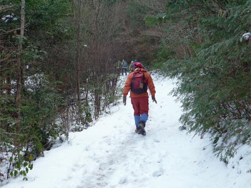 今日のKオジサンの後姿です。<br />今日はトップを歩くのでなく、後ろから着いて行きます。<br /><br />