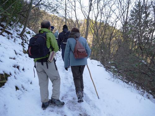後ろからの登山者。<br />何時も、登っているようなお二人です。<br />私たちは団体で進むのが遅いので、道を譲り先に行って貰います、<br /><br />