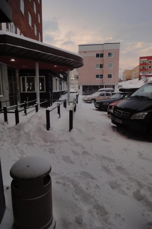 昼食を摂ったキルナのホテル