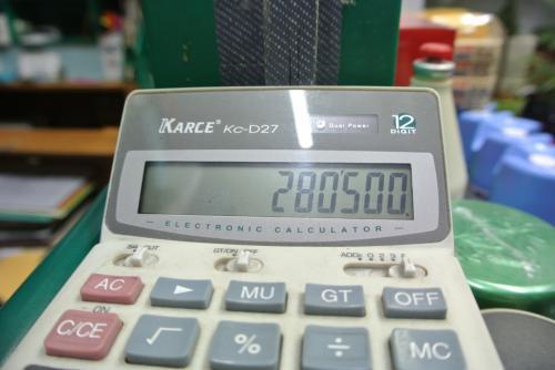 ¥30,000でW280,500でした。<br /><br />はぁ。円安。
