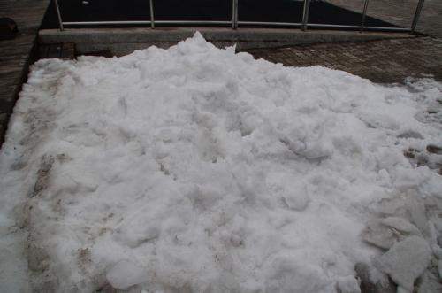 雪は確かに積もっていた。しかし、最近降った雪ではなさそうである。とは言え、雪が解けていないということは、寒いということなのだろう。