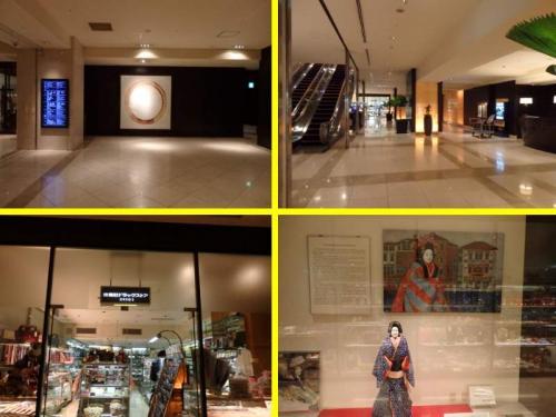 ■□■□■シェラトン都ホテル・大阪<br />□■□■□2階ロビー・レセプション<br /><br />(左下)レセプション横にミニショップがあります。<br />(右下)ミニショップと通路を挟んで文楽人形も飾ってます。<br /><br />そうそう、<br />客室に置いてるディレクトリーに挟んでる絵葉書も文楽人形の絵柄です。<br />持って帰ってもイイヨ〜〜\(^o^)/
