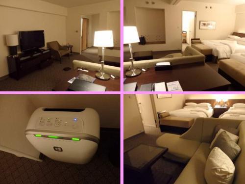■□■□■シェラトン都ホテル・大阪<br />□■□■□18階<br />■□■□■プレミアスィート<br /><br />空気清浄機は全室ついてます(と、思います)