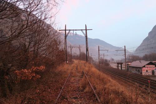 TERローヌ=アルプ鉄道のシャンベリー・モダーヌ線の旧線になります。路線ナンバーは53です。