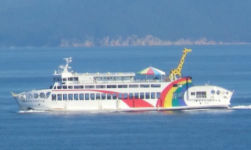高松と小豆島を結ぶ国際フェリー。<br />第32こくさい丸(697t)‥こちらにはキリンさんが乗っていますよ。
