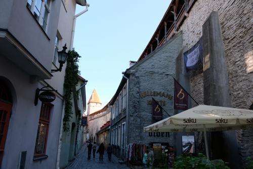 旧市街東部の城壁。<br />壁に張り付くように店舗があり、街と一体化しています。
