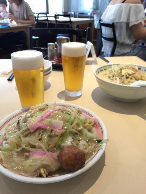 長崎ちゃんぽんとビール