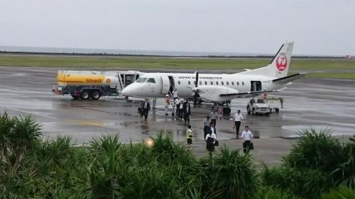 奄美出発は小雨。<br />【3レグ】奄美大島→与論島 JAC3861<br />鹿児島最南端の島に向かいます。わくわく。