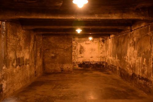 ガス室の中。 チクロンBという薬が使われた。
