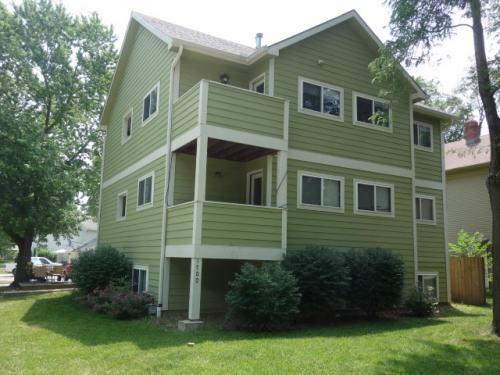 カンザス大学(ローレンス)<br />ユージーンが最初に住んでいたアパート