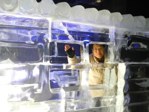 氷のログハウス。