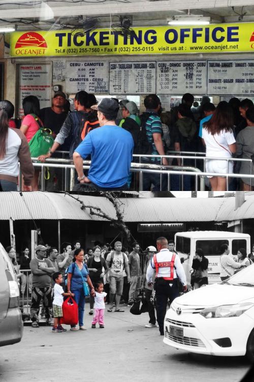 【フェリーのチケット売場】<br />フェリー乗場手前にあるチケット売場も混んでます。<br />私達はツアーに乗っかっているので、何もせずにチケットが手元に届きます。<br /><br />【やさしい警備員?】<br />お子さんを2人連れたマダムが混み合う道路を渡ろうとしている時、警備か交通整理の男性がエスコートしているのを見てちょっぴり感動しました。