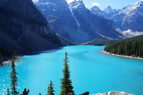 いつまででも見ていたい湖の色です・・・