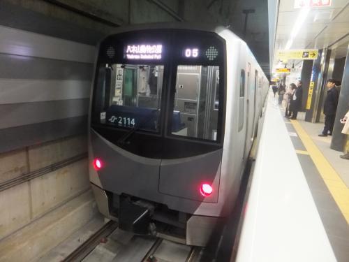 こちらが南北線の車両。なんとなく東京の大江戸線の様な雰囲気。車体も小さく感じました。