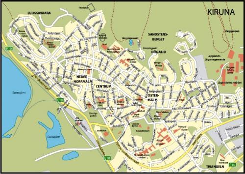 キルナ市街図(出典:matton.se)