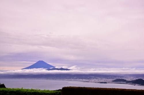 トイレに寄ると<br />富士山と雲海が出ていました。