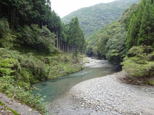 京都に熊はいないと思うけれど、暴漢に襲われて誘拐されたらどうしよう・・・と余計なことが頭をかすめる。最近は女性の1人ハイキングに注意喚起が出ているらしい。<br />