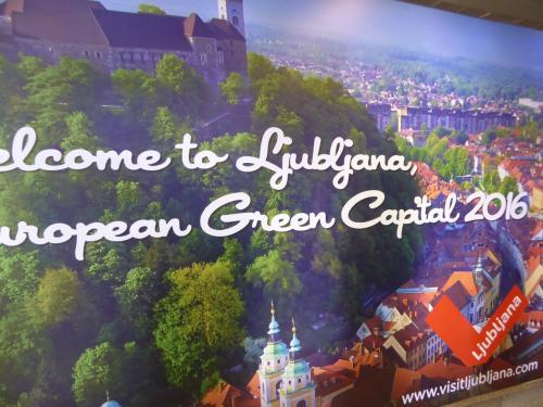リュブリャナ市街の写真。実はここから23キロ北に空港があります。<br /><br />我々のオレンジグループはリュブリャナには寄らず、ブレッドに直行します。一部のグループはリュブリャナ泊でした。