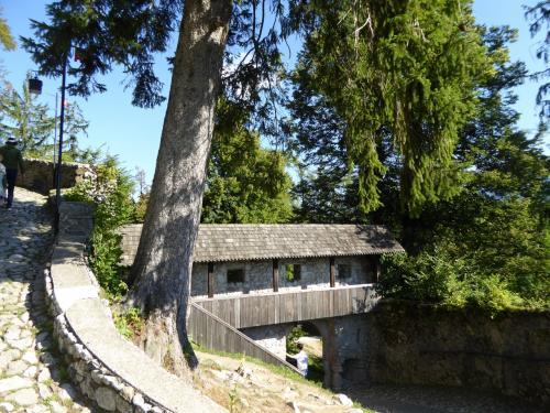 門の上が櫓になってます。この辺は日本の城でも見かける構造ですね。