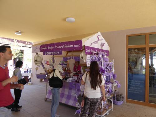 ラベンダーが有名?やたら紫の土産物がありました。